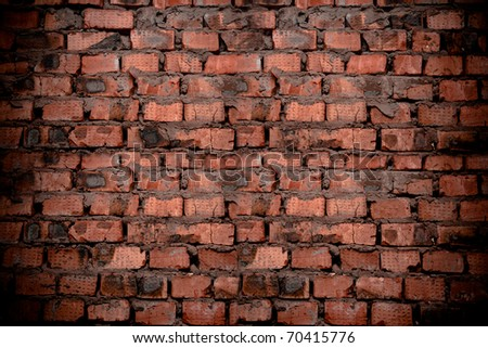 a hiht resolution vintage brick wall as a background or texture - stock photo
