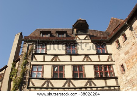 "A historic part of the castle ""Kaiserburg"" in Nuremberg in Germany"