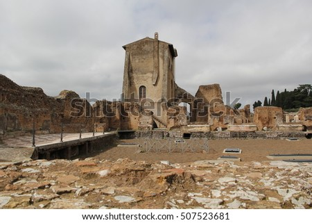 a historical building in Roman Forum, Rome, Italy