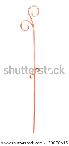 A holder for flower sprouts isolated on a white background - stock photo