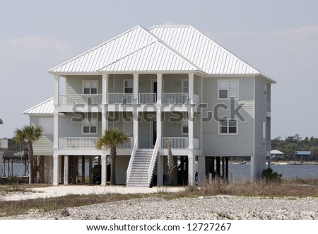 A home at the beach. - stock photo