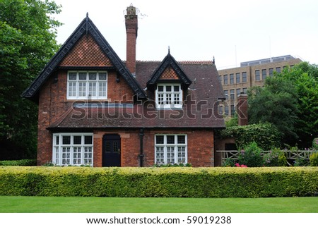 A home in St. Stephen's Green in Dublin, Ireland. - stock photo