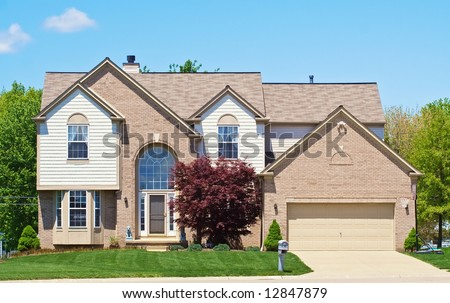 A Home in the suburbs of Ohio. - stock photo