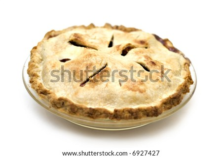 A homemade apple pie that I made and it was delicious! - stock photo