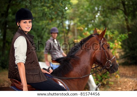 A horseback rider - stock photo