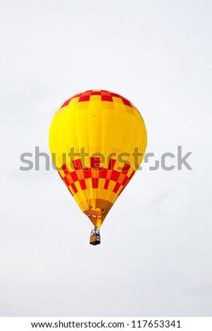 A hot air balloon against a cloudy sky. Carolina Balloon Festival. Statesville, North Carolina - stock photo