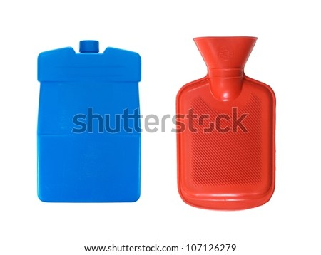 A hot water bottle isolated against a white background - stock photo