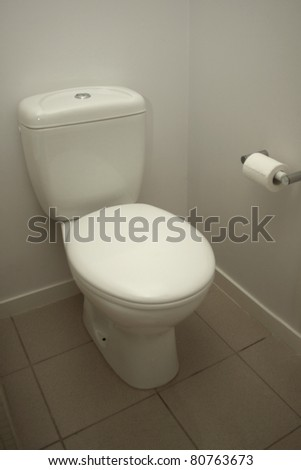 A hotel bathroom - stock photo