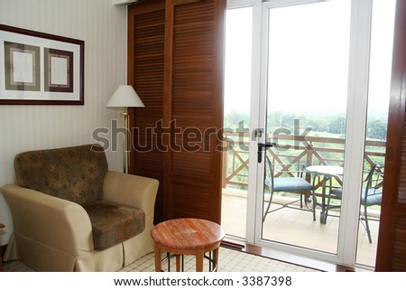 a hotel living room - stock photo