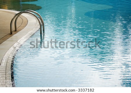 a hotel pool - stock photo