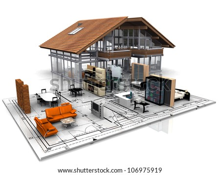 a  house - stock photo