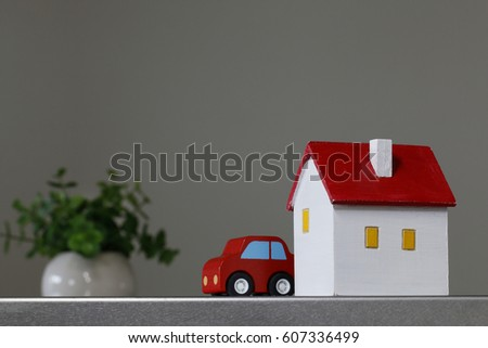 A house and car of the miniature
