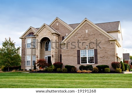 A house in a suburban neighborhood of Cleveland, Ohio. - stock photo