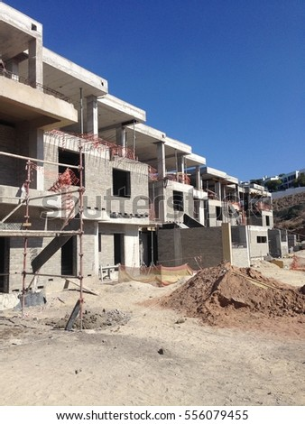 A housing block under construction.