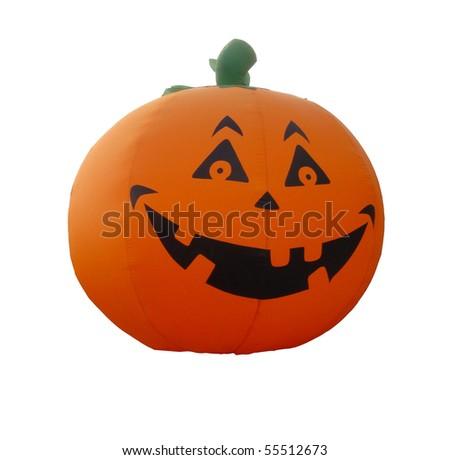 A huge Halloween balloon cropped - stock photo