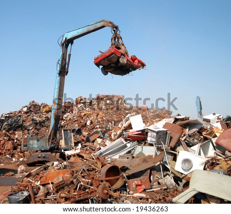 A huge mechanical claw - stock photo