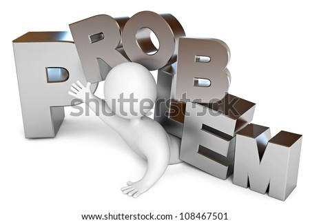 A human problem, a hopeless situation, conceptual illustration. Icon isolated on white background. 3d render - stock photo