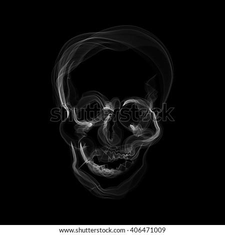 a human skull shaped smoke - stock photo