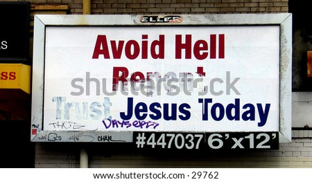 A humorous billboard in San Francisco's Chinatown. - stock photo