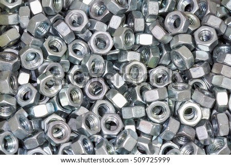 A Hundred of Hex Nuts