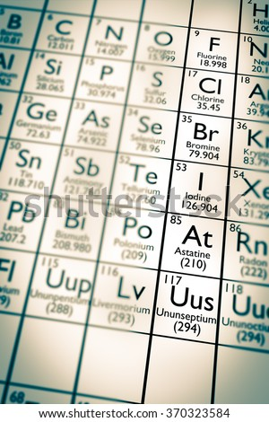 Illustration Some Chemical Elements Mendeleev Periodic Stock Photo