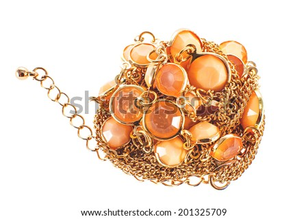 a image of a female jewelry chain with stones