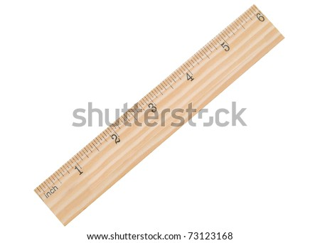 A 6 inch school ruler - stock photo