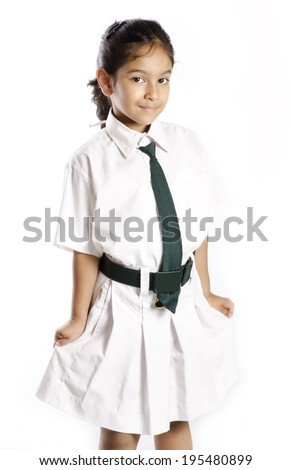 A  indian school girl