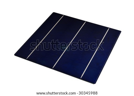 "A  6"" isolated Solar-Cell - stock photo"