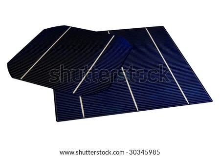 "A 5"" & 6"" isolated Solar-Cells - stock photo"
