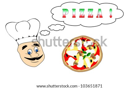 a italian chef thinking about pizza