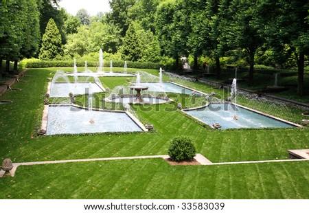 a italian garden design in a botanical garden usa - Garden Design Usa