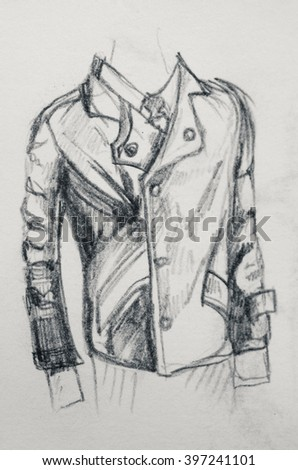 A jacket scetch - stock photo