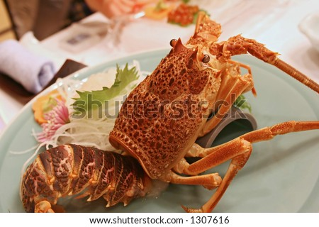 a Japanese food setting - stock photo