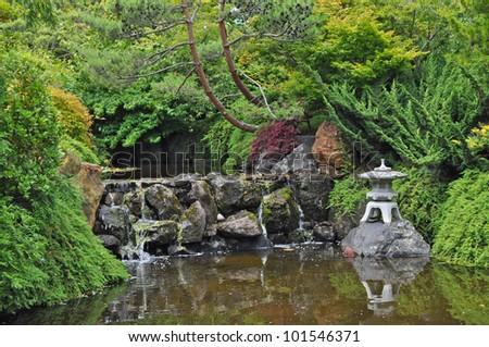 A japanese garden - stock photo