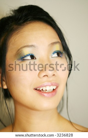 a Japanese girl - stock photo