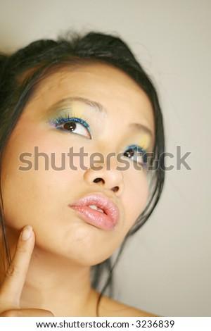 a Japanese girl - stock photo