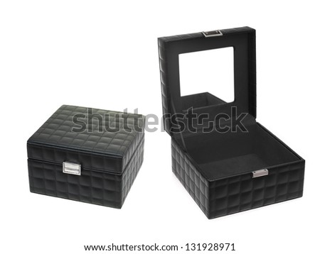 A jewellery box isolated against a white background - stock photo