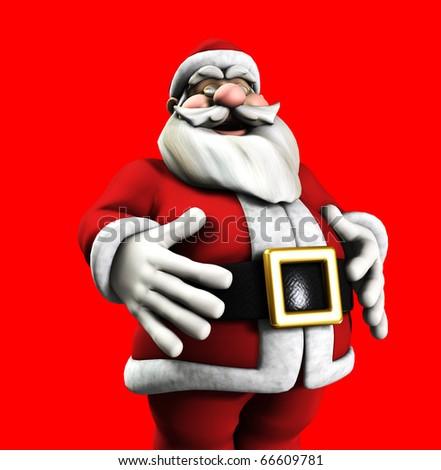 A jolly Santa Claus - stock photo