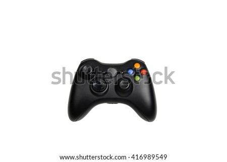 a joystick isolated on white - stock photo