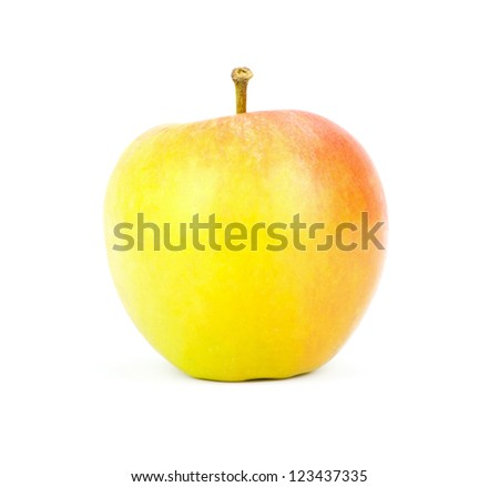 a juicy apple on a white background with clipping path