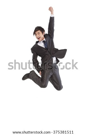 A jumping man - stock photo