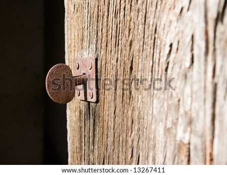 A key in a old door