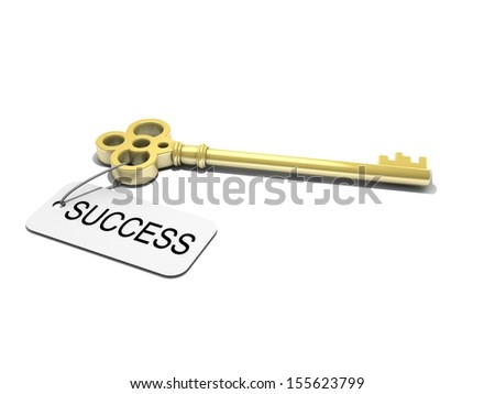 """a key with word """"success"""" , business concep - stock photo"""