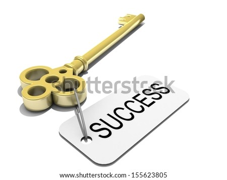 "a key with word ""success"" , business concep - stock photo"