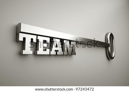 "a key with word ""team"", business concept - stock photo"
