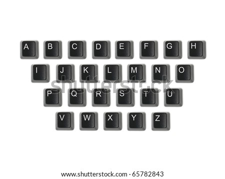 A keyboard key isolated against a white background - stock photo