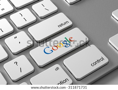 A keyboard with a button Google - stock photo