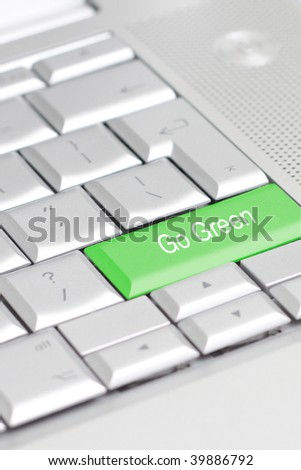 A keyboard with an eco option - stock photo