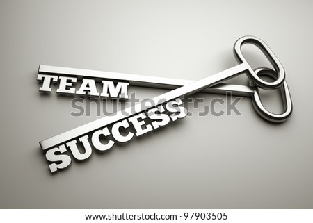 "a keys with words ""team"" and ""success"", business concept - stock photo"